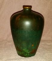 CLEWELL POTTERY COPPER CLAD VASE SIGNED AND NUMBERED