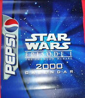 2000 VINTAGE STAR WARS PEPSI POSTER CALENDAR 6 PAGES THE PHANTOM MENACE MINT