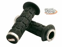 ODI Rogue Lock-on ATV Grips (130mm) - BLACK/SILVER - Thumb Throttle - Made in US