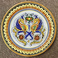 Deruta Pottery plate 125 inch RaffaellescoMade painted by hand in Italy.