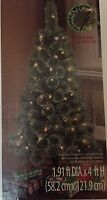 Pre-Lit Christmas Tree 4 ft Canadian Cashmere White Lights New Realistic