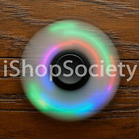 LED Tri Spinner Fidget Spinners EDC Figet Hand Desk Focus Toy ADHD USA BLACK