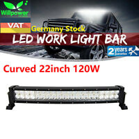 22inch 120W Led Work Light Bar Curved for UTE SUV ATV Offroad Truck Jeep Ford