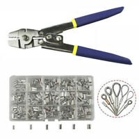 Fishing Pliers Stainless Steel Wire Rope Swager Crimpers Tool Crimp Sleeves Kit