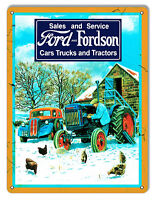 Ford & Fordson Trucks & Tractors Reproduction Garage Shop & Country Sign 9x12
