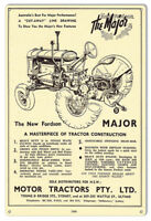 Fordson Motor Tractors Construction Reproduction Country Sign 12