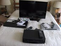 32quot; Flat Screen LG TV incl LG sound plate Sony CD DVD and Quasar VHS Players $150.00