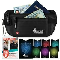 Money Belt For Travel With RFID Blocking Sleeves Set For Daily Use Alpha Keeper