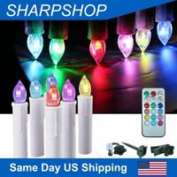 Electric Taper Candles Flameless LED Lights for Windows Pillar Battery Operated
