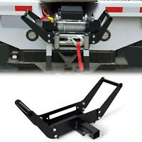 Foldable Winch Mounting Plate Cradle Mount For 2'' Hitch Receiver 4WD SUV ATV