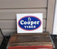 COOPER TIRES Metal Sign Advertising Repair Shop Logo Mechanic Garage 9x12 50084