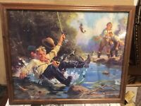 "Terrific Old Fly Fishing Print Hintermeister 21"" x 18"""