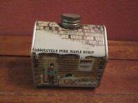 VINTAGE MAPLE SYRUP CABIN TIN CAN NEW ENGLAND CONTAINER CO.