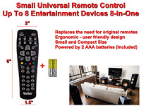 VIVITAR Small Universal TV Remote Control Up To 8 Entertainment Devices 8 in 1 $19.10