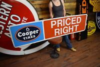 TIN COOPER Tires SIGN 6' embossed Garage Service Advertising Gas Oil Station
