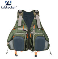 Kylebooker Muiti-pocket Fly Fishing Vest Backpack Bag Adjustable Size Me