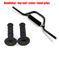 Motorcycle 22mm Handle Bar With Hand Grip Black For Scooter Quad ATV Dirt Bike