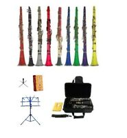 New Merano BB Clarinet+Reeds,Stand~Black White Red Pink Blue Purple Green Yellow