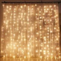 NEW Twinkle LED Window Curtain String Lights Wedding Party Home Dorm Decoration
