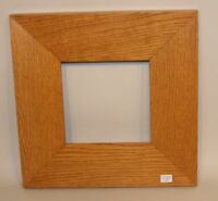 Dard Hunter Studios Light Oak Wood Frame 6x6 Inch Motawi Tileworks Tile
