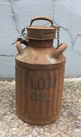 Vintage Antique Ellisco Metal Can Floor Oil 5 Gallon 1930's Fuel