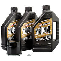 Oil Change Kit With Maxima Synthetic Blend 10W-40 Suzuki King Quad 500AXi 2009