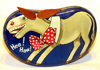 Dainty Dinah Horner Rocking Donkey Toffee Candy Tin 1930s