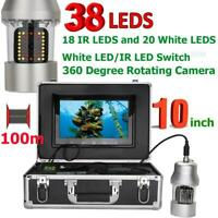10quot; Monitor Fish Finder Underwater Fishing Video Camera 38 LEDs for Ocean Lake