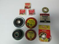 Lot of Vintage Collectible SCOTCH 3M Tape Products Electrical Tape Double Stick
