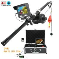 4.3quot; Inch Underwater Fishing Video Camera Kit 6W IR LED HD DVR Recorder Monitor