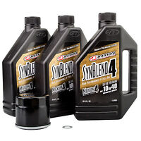 Oil Change Kit With Maxima Synthetic Blend 10W-40 for Suzuki King Quad 500AXi 20