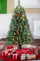 Indiana Spruce 4 ft Artificial Pre-Lit Multi-color Lights Christmas Tree NEW!!!