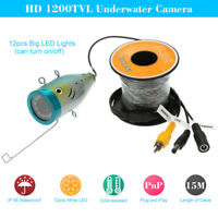1200TVL Underwater Camera Fish Finder for Ice/Sea/River Fishing 15m Cable S2W8