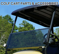 Folding Acrylic Tinted Windshield for 2004-Up Club Car Precedent Golf Carts New