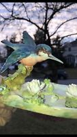 Antique Crown Staffordshire Bird Sculpture Figurine Hummingbird England c1930-55