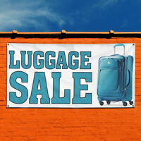 Vinyl Banner Sign Luggage Sale Business Outdoor Marketing Advertising White