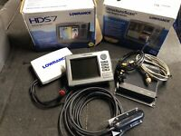 Lowrance HDS 7 Fish Finder With Side Scan, Structure Scan And Side Imaging