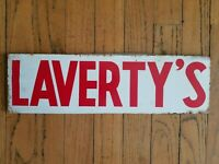 Lavertys Seed Corn Metal Tin Sign Farm Vintage Old Original Feed Cow Pig Horse