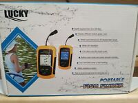 LUCKY FF1108-1 100m Portable HD Fish Finder With Green LED Backlight