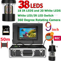 DVR Recorder 50m Underwater Fishing Video Camera Fish Finder 360 Rotating Camera