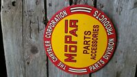 Vintage 50's? Mopar Parts Chrysler Dodge Plymouth Gas Oil dealer metal sign