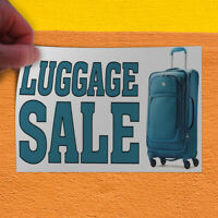 Decal Sticker Luggage Sale Business Luggage Sale Outdoor Store Sign White