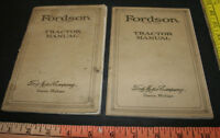 1923 & 1925 Ford Fordson tractor operator's instruction book manuals