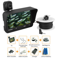 Fish Finder Underwater Visual HD Fishing Video Camera LCD Monitor Night Vision