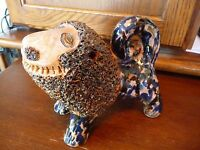 EXCEPTIONAL BILLY RAY HUSSEY Shenandoah Valley Lion Folk Art Pottery Figure