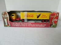 ERTL COCA-COLA Coke 1950 Cab & Trailer Semi Truck Coin Bank DIE CAST 1:43 NIB
