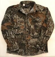 Rattlers Brand Realtree Camouflage Flannel Hunting Shirt M Medium cotton USA