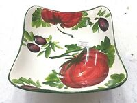 Deruta Pottery-5,3/4 inch Bowl With Olives-made/painted by hand in Italy