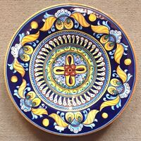 Deruta Pottery 14inch plate vario Pattern made painted byhand Italy.