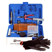 Tire Repair Tools Kit Set Plug Flat Punctured Roadside Emergency Car Truck ATV